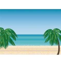 Palm beach horizon vector
