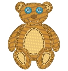 Isolated patchwork bear vector