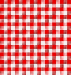 Seamless checkered tablecloth vector