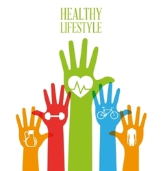 Healthy lifestyle design bodycare icon colorful vector