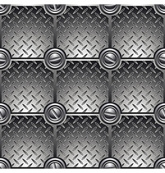 Tiled metal background vector