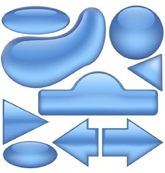 Blue buttons vector