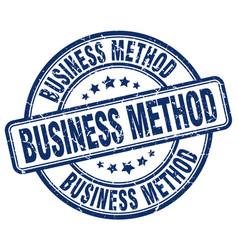 Business method blue grunge stamp vector