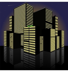 Cityscape at night Made in vector image vector image