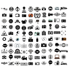 Collection of camera icons vector