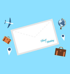 collection of travel background style vector image