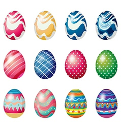 Easter eggs for the easter Sunday egg hunt vector image