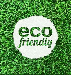 Eco Friendly Banner vector image vector image