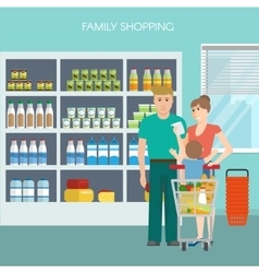 Family shopping design vector