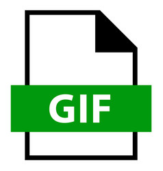 file name extension gif type vector image vector image