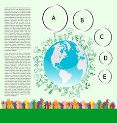 Go green concept Save world vector image