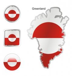 greenland vector image vector image