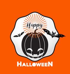 happy halloween logo icon design vector image vector image