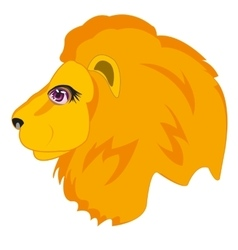 Head animal lion vector