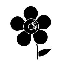 Jasmine flower decoration silhouette vector