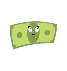 money surprised emotion cash emoji astonished vector image