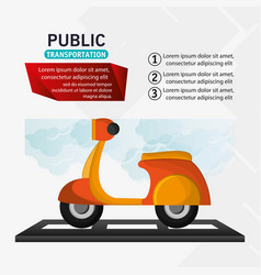 Motorcycle delivery service public transport vector