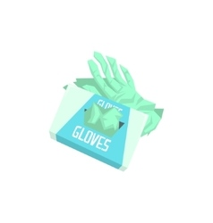Pack of surgeon silicon gloves vector