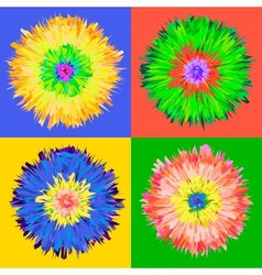 Pop art flower vector image