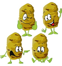 Potato cartoon isolated on white background vector