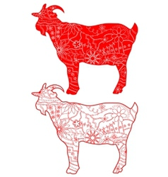 Red goats vector