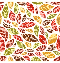 Seamless fall leaves pattern vector image