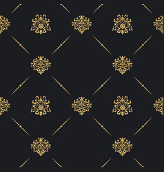 Seamless vintage pattern decor vector