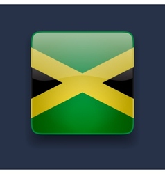 Square icon with flag of Jamaica vector image vector image