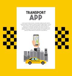 taxi service public transport app technology vector image