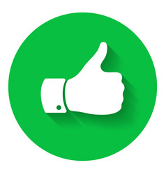 Thumb up symbol human hand icon sign of like vector