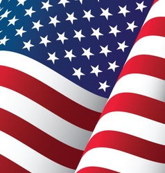 United States Waving Flag Background vector image
