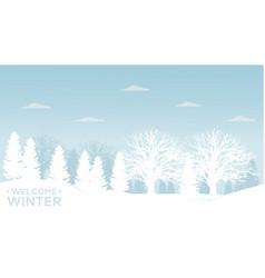 winter landscape 2 vector image vector image