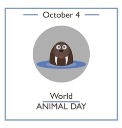 World animal day vector