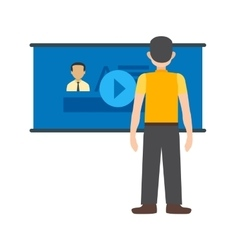 Video lecture vector