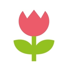 Rose flower symbol edit icon vector