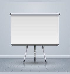 Whiteboard projector presentation screen vector