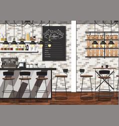 Coffee shop interior vector