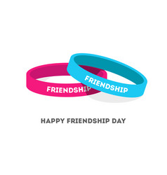 Two friendship bands with text vector