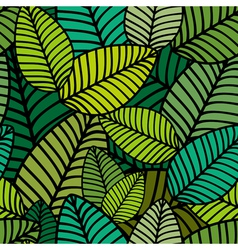 Pattern with striped leaves vector