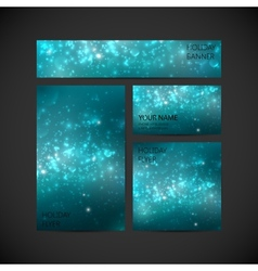 set of visual corporate identity with blue holiday vector image