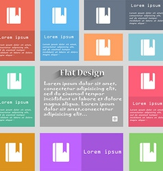 Book bookmark icon sign set of multicolored vector