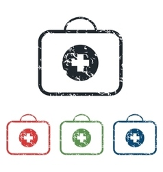 First aid grunge icon set vector