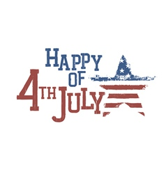 4th july typography composition vector image vector image