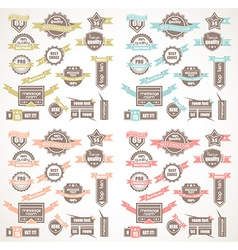 Big collection of quality labels with 4 colors vector