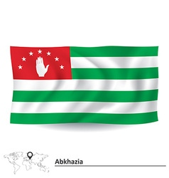 Flag of abkhazia vector