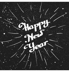 Hand-written happy new year with ink beam vector