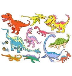 cute dinosaurs cartoon character vector image