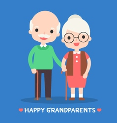 Happy grandparents vector