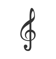 Music note isolated flat icon vector