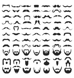 Beard with moustache vector